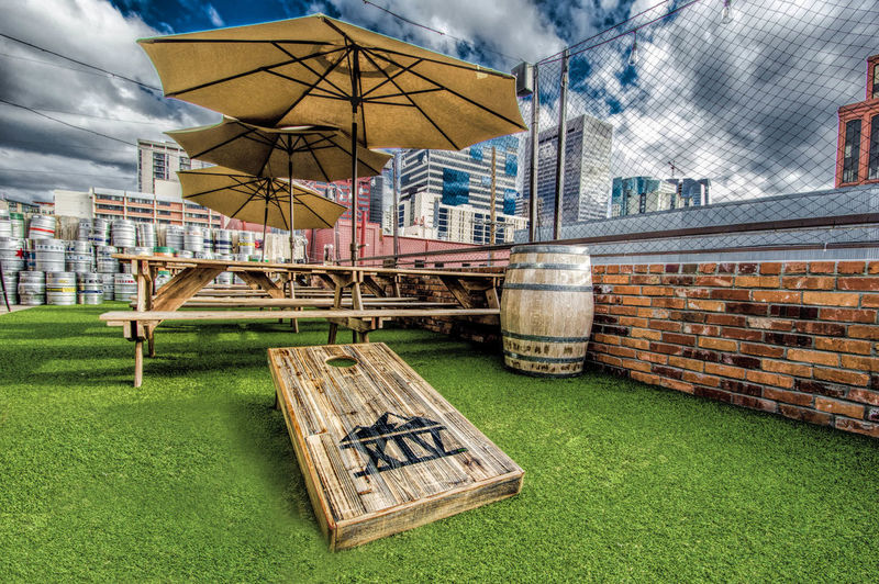 Patio Architecture Bar Clouds And Sky Day Exterior Design Outdoor Bar Outdoors Umbrella