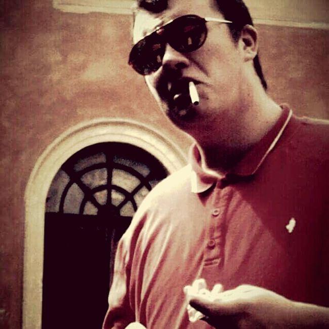 Gangsters Paradise Gangsta Gangster Mafia  Sunglasses Thuglife Chic First Eyeem Photo Cigarette  Cinestar Vintage Retro Polo Shirt Badface