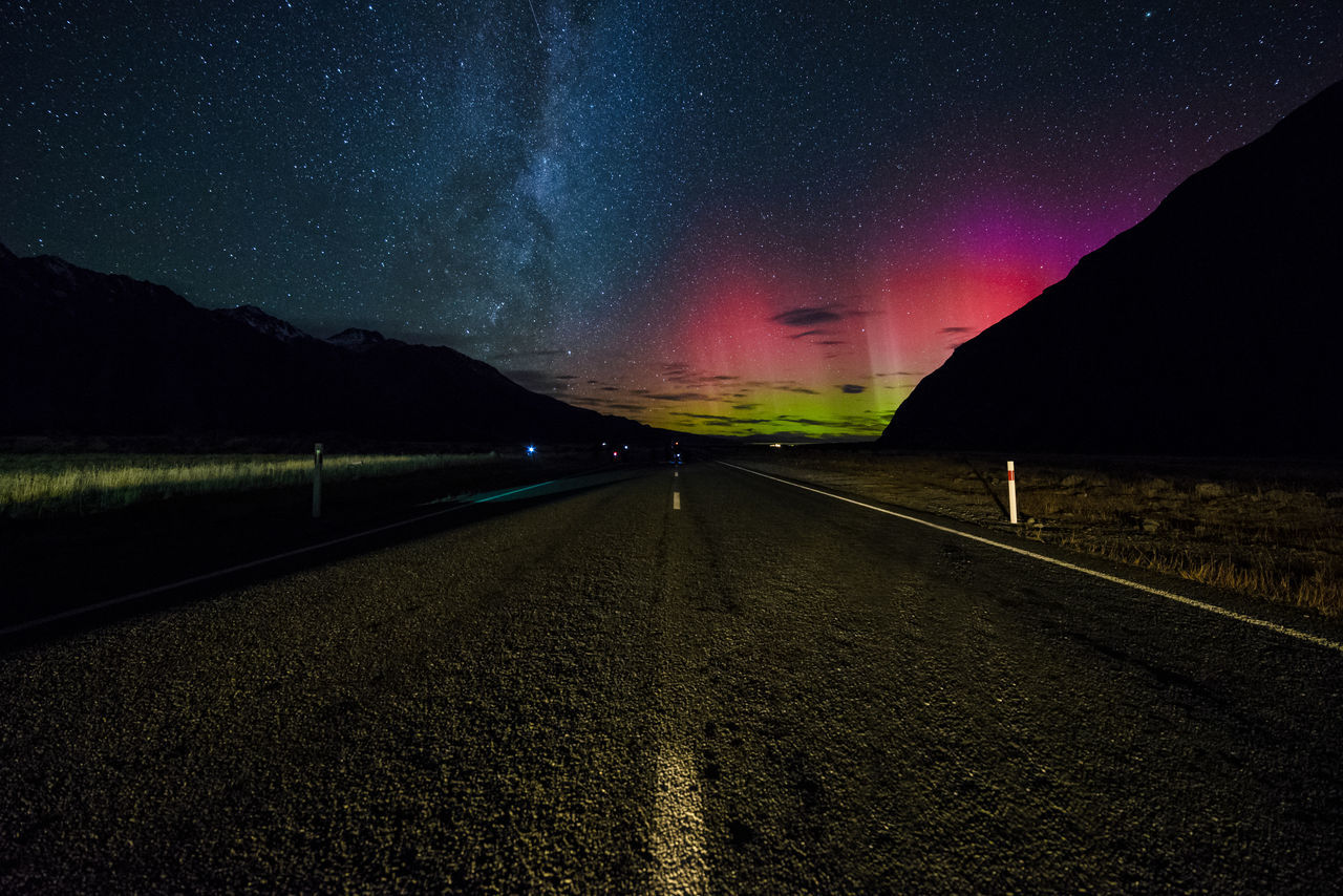 Beautiful stock photos of galaxy, night, star - space, scenics, road