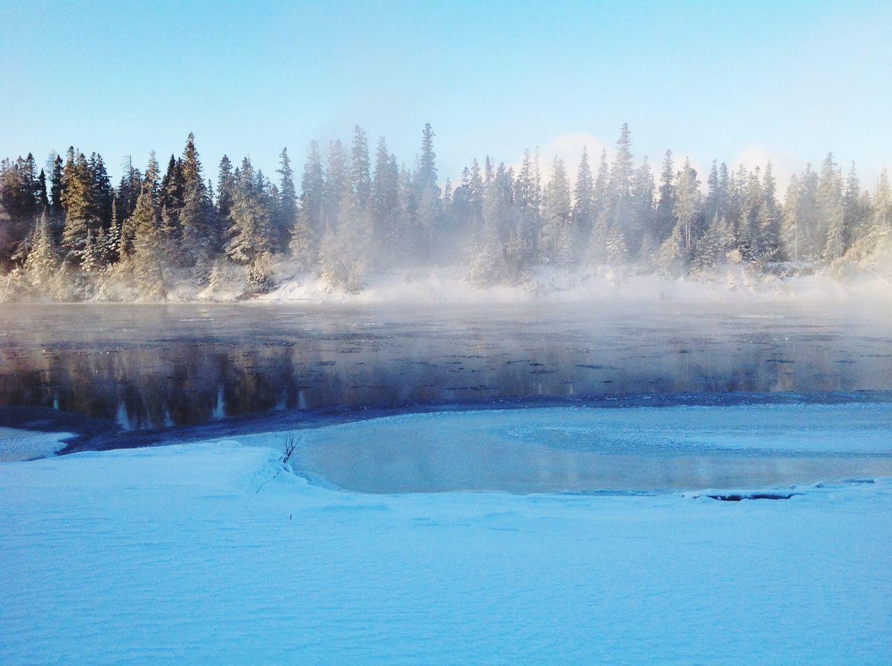 Early morning river scene.