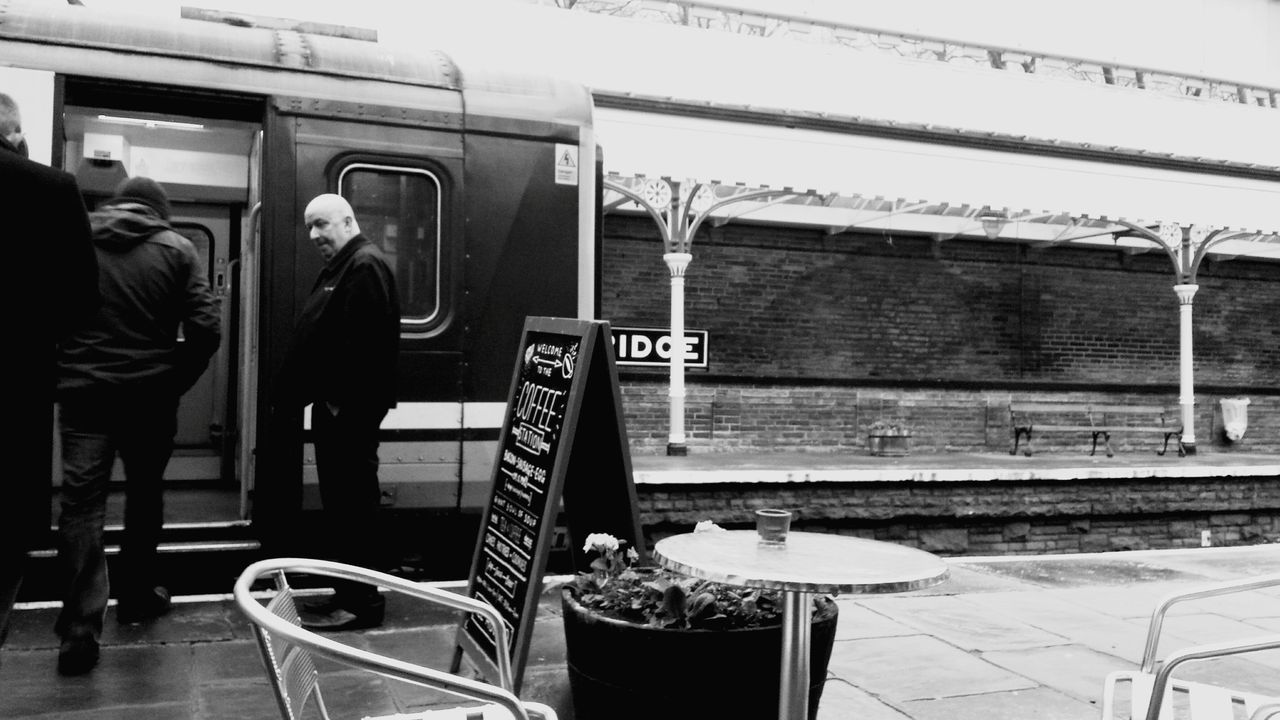 My Winter Favorites Day Out Cold Train Station Train Yorkshire Hebden Bridge Traveling Street Photography December Hebdenbridge Old Train Station Roof Platform Urban Geometry Geometric Shapes Darkness And Light Monochrome Black And White Black & White Train Driver People Commuting Commuters Signs