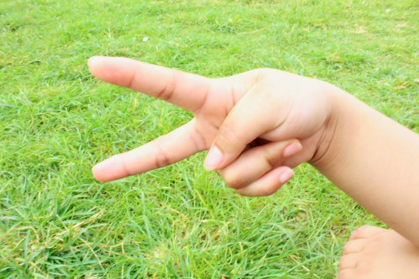 Grass Human Body Part Human Hand One Person Child Outdoors Nature Childhood Day Children Only Close-up People Adult Peace ✌ Peace And Love ✌❤