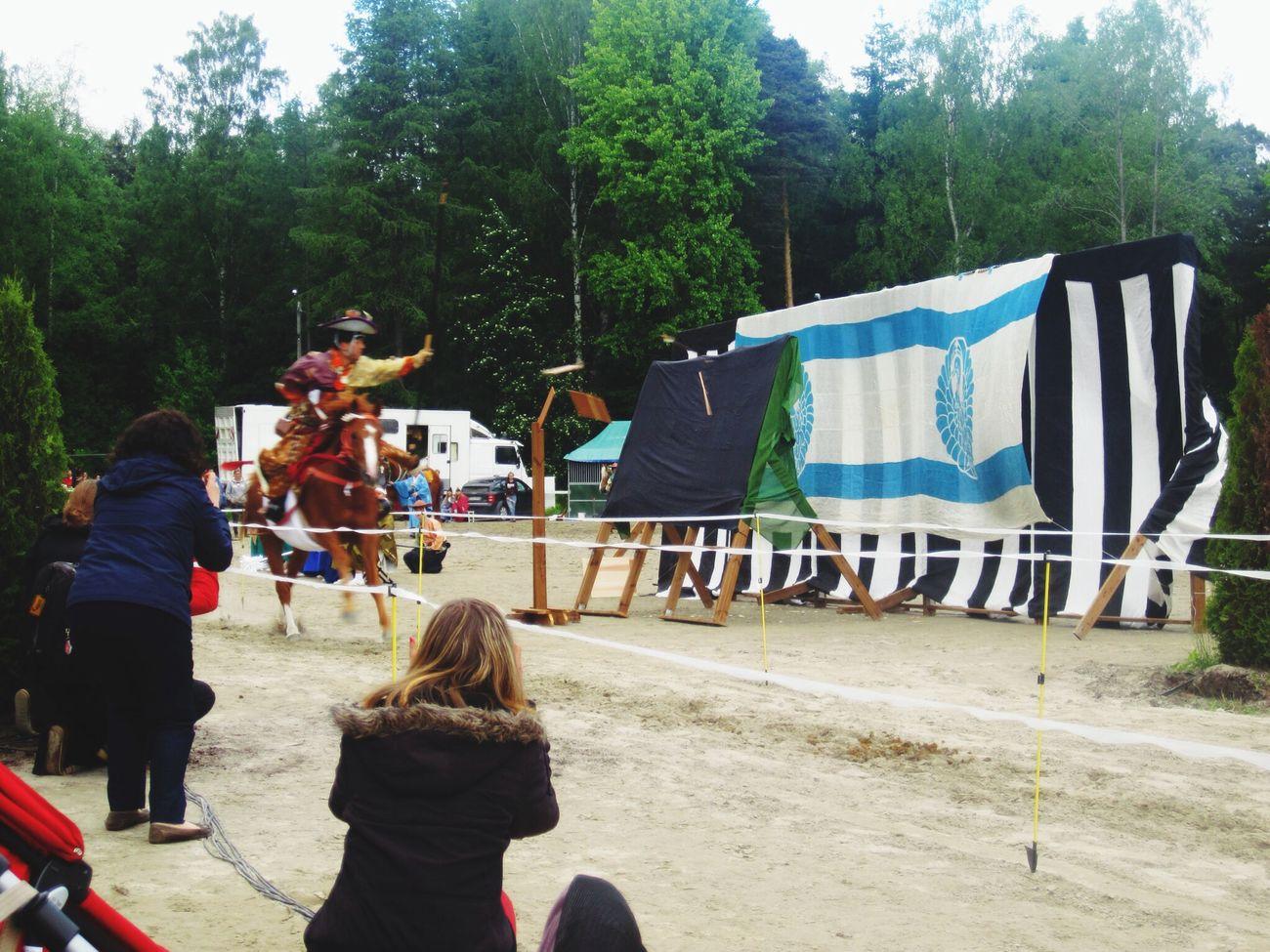 一本目‼︎ 3つ全て当たりました!The first one!! Every 3 hits were perfect! Yabusame Horse Riding Japanese Archery