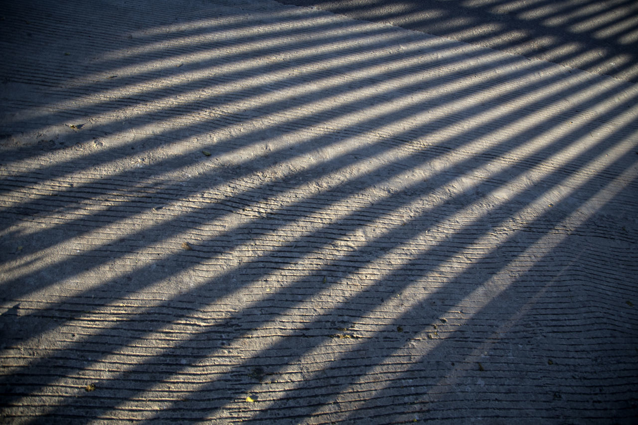 Backgrounds Close-up Corrugated Iron Day High Angle View No People Outdoors Parallel Pattern Striped Sunlight Textured