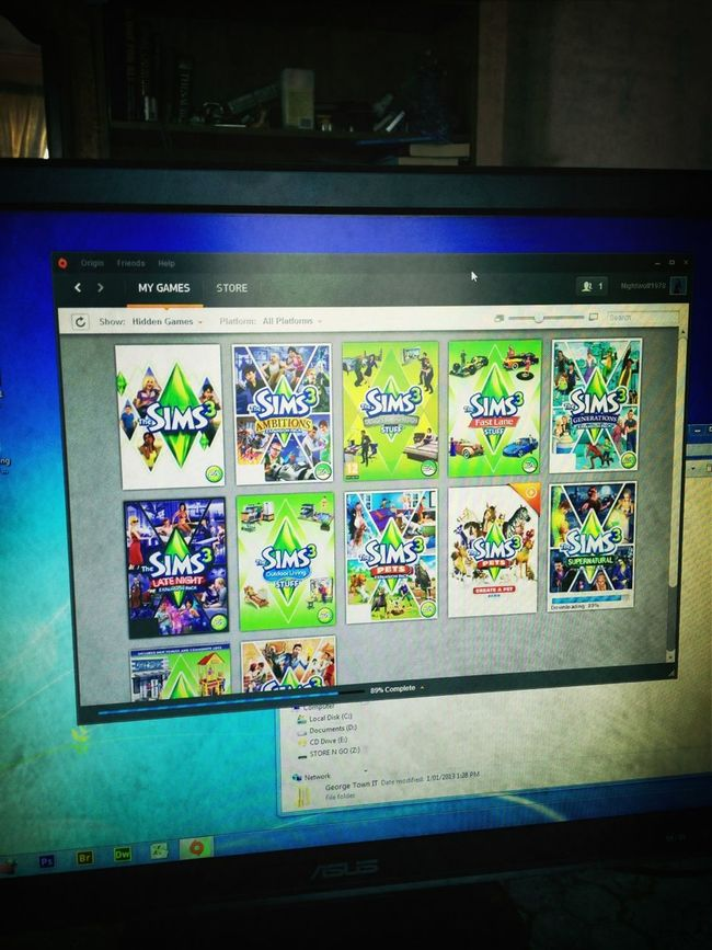 Today. Installing new Sims 3 expansions #fmsphotoaday
