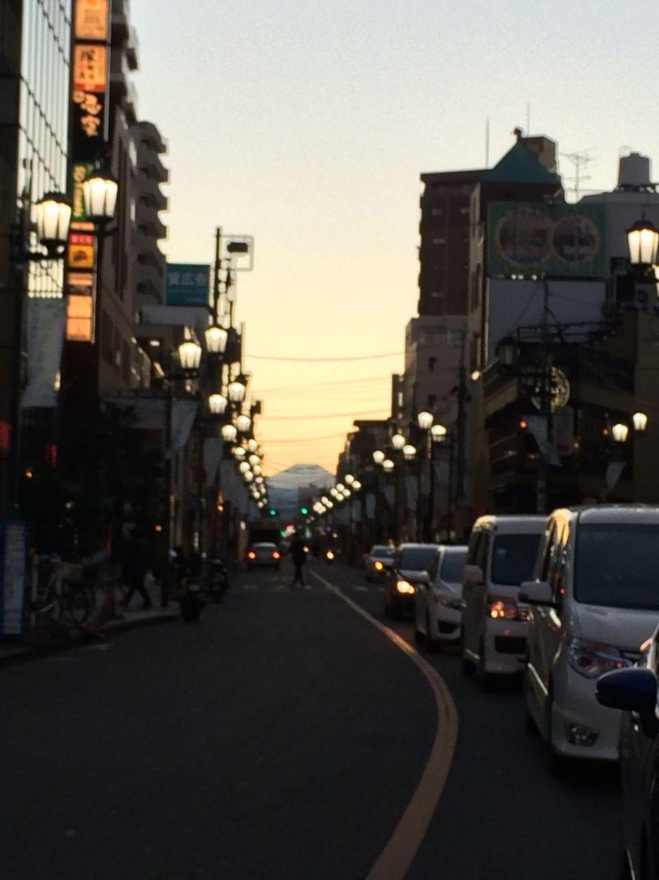 国立から富士山が見えた*\(^o^)/* Kunitachi Mtfuji 富士山