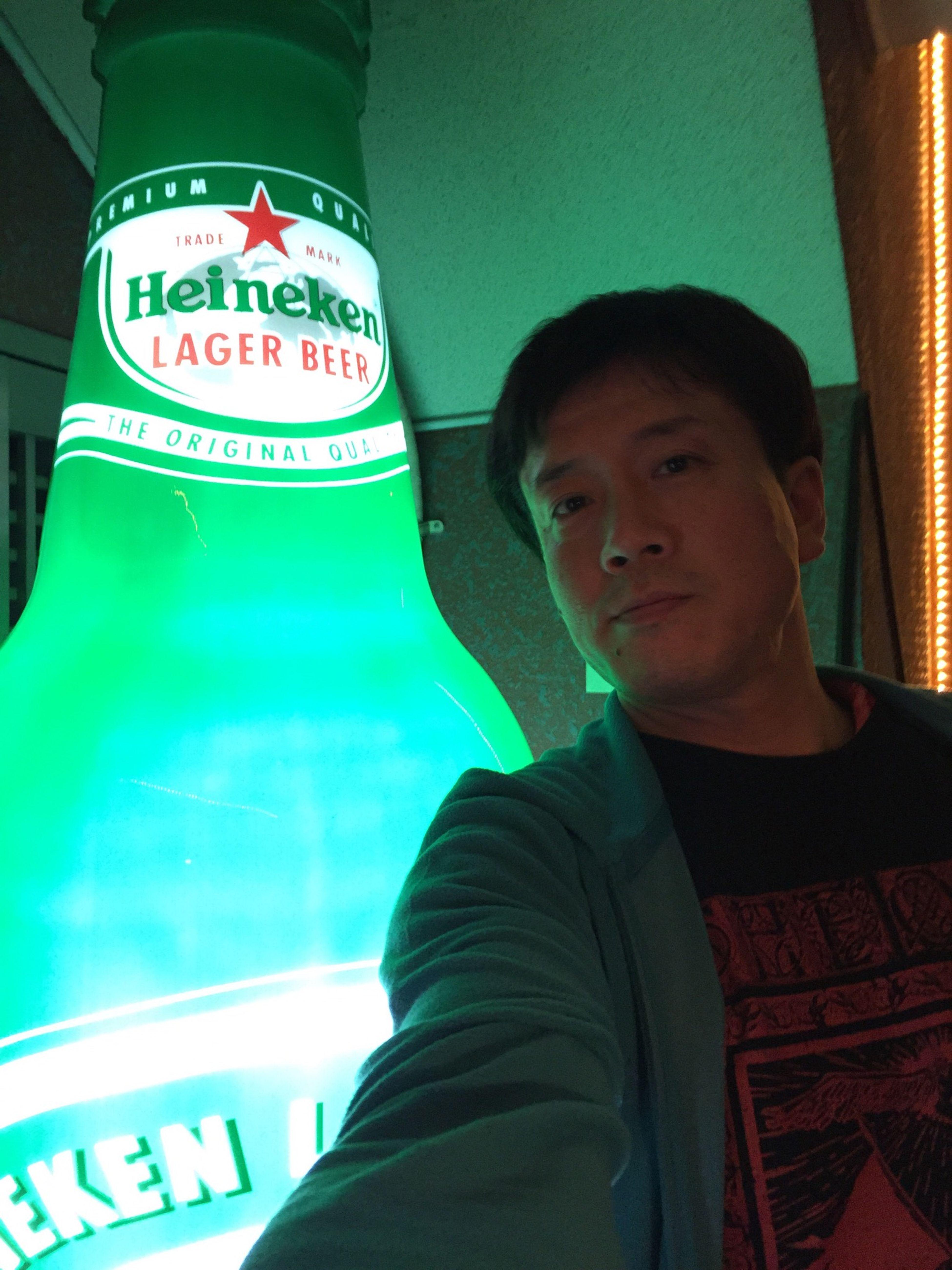 ハイネくんとツーショット?✨ Relaxed Atmosphere Rocking Out Rock'n'Beer Enjoying Life Music Is My Life LIVEHOUSE IPhoneography Bottle♡Love