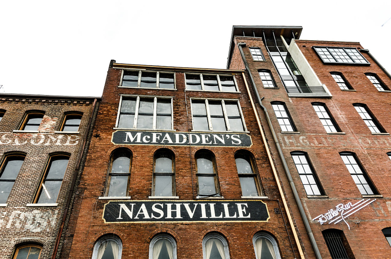 Nashville Tennessee Architecture South Tn Building Buildings & Sky Buliding Design Music City Brick Building Brick Wall Brick