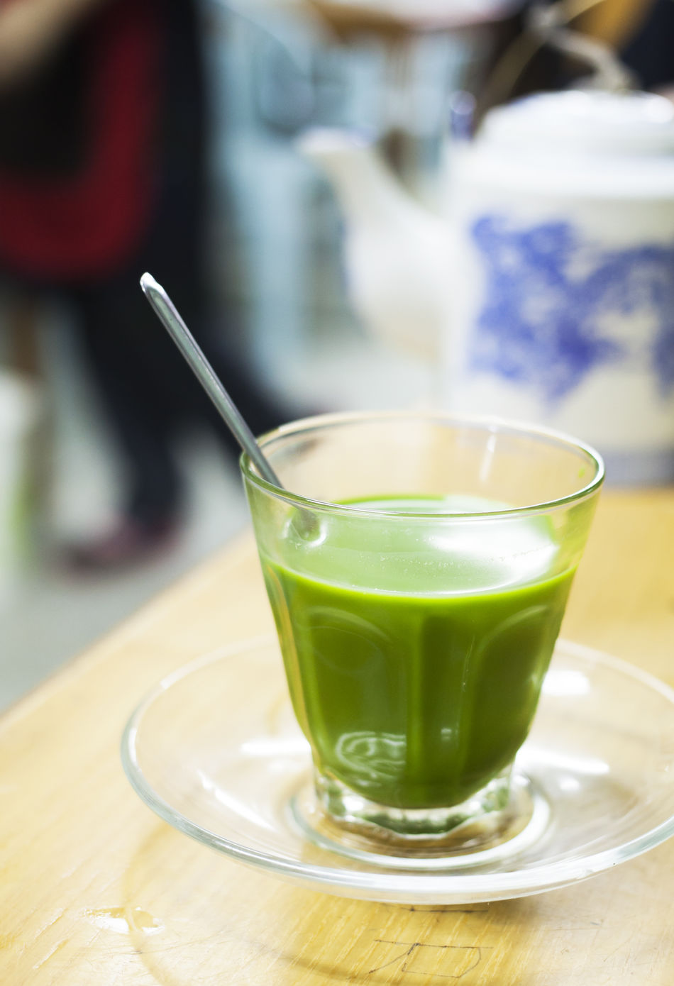 Cup Delicious Drink Green Healthy Hot Matcha Milk Sweet Tasty Tea