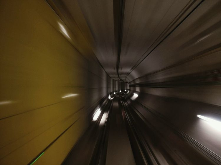 Transportation Escalator Technology Motion Illuminated Railroad Track Convenience Blurred Motion Indoors  On The Move The Way Forward Speed Modern Subway Station Moving Walkway  Mode Of Transport Public Transport Long Narrow Moving Up Metro Underground L9 Barcelona Long Exposure