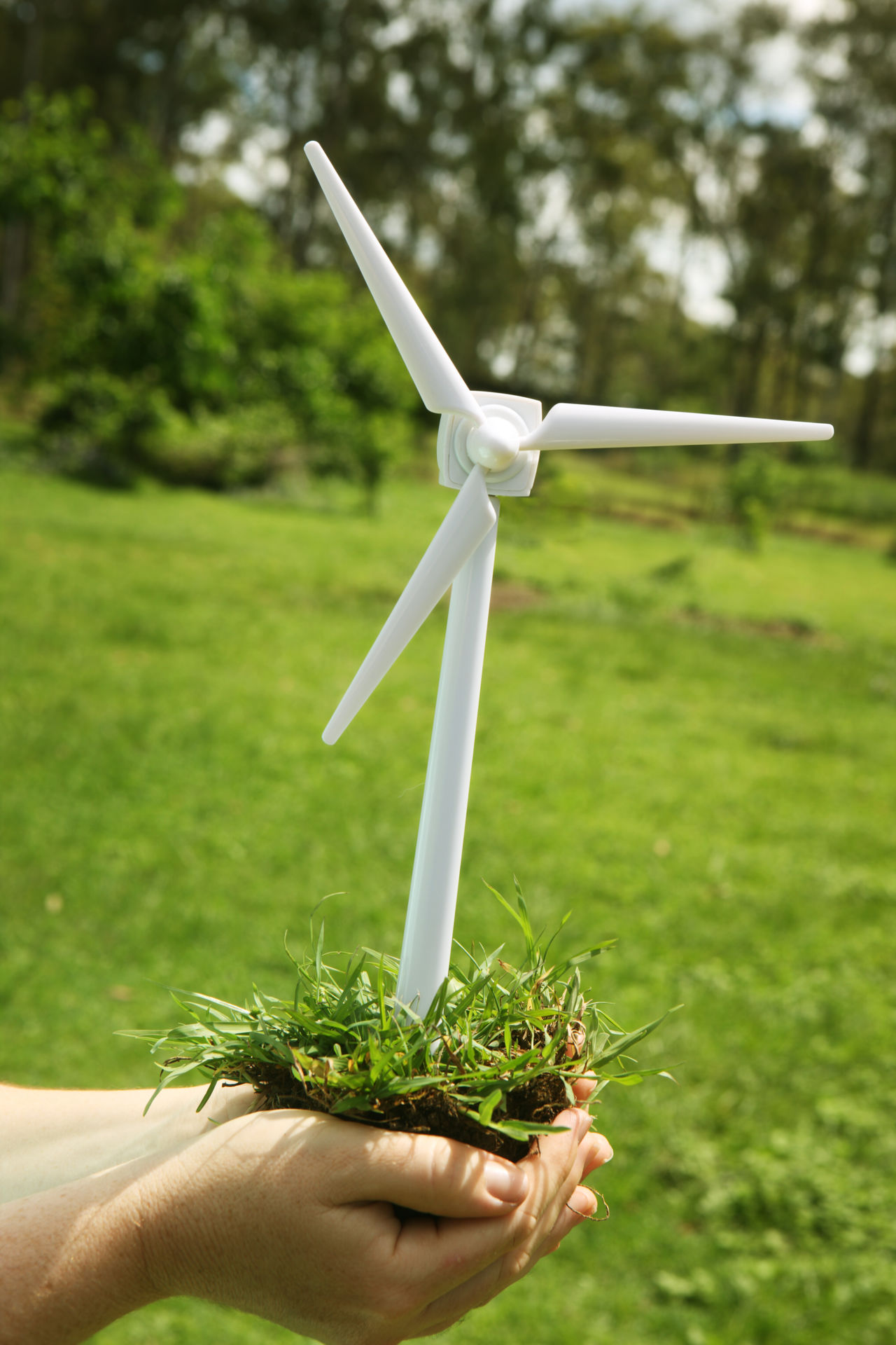 Wind Turbine in hands Alternative Energy Day Environment Environmental Conservation Green Green Energy Miniature Outdoors Power Toy Wind Wind Power Wind Power Generator Wind Turbine Wind Turbines
