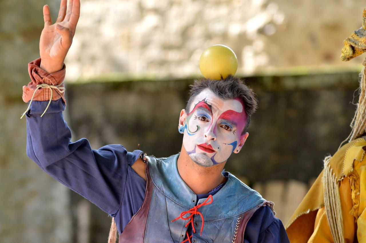 Beautiful stock photos of clown, one person, men, outdoors, people