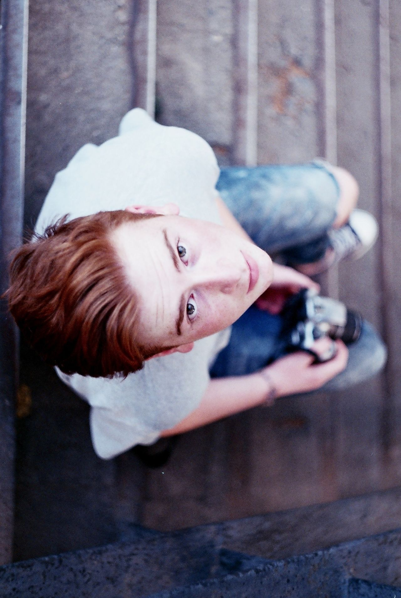 Adult Analog Analogue Photography Boy Close-up Day Film Film Photography Focus On Foreground Headshot Holding Leisure Activity Lifestyles Looking At Camera One Person Outdoors People Portrait Real People Redhead Young Adult