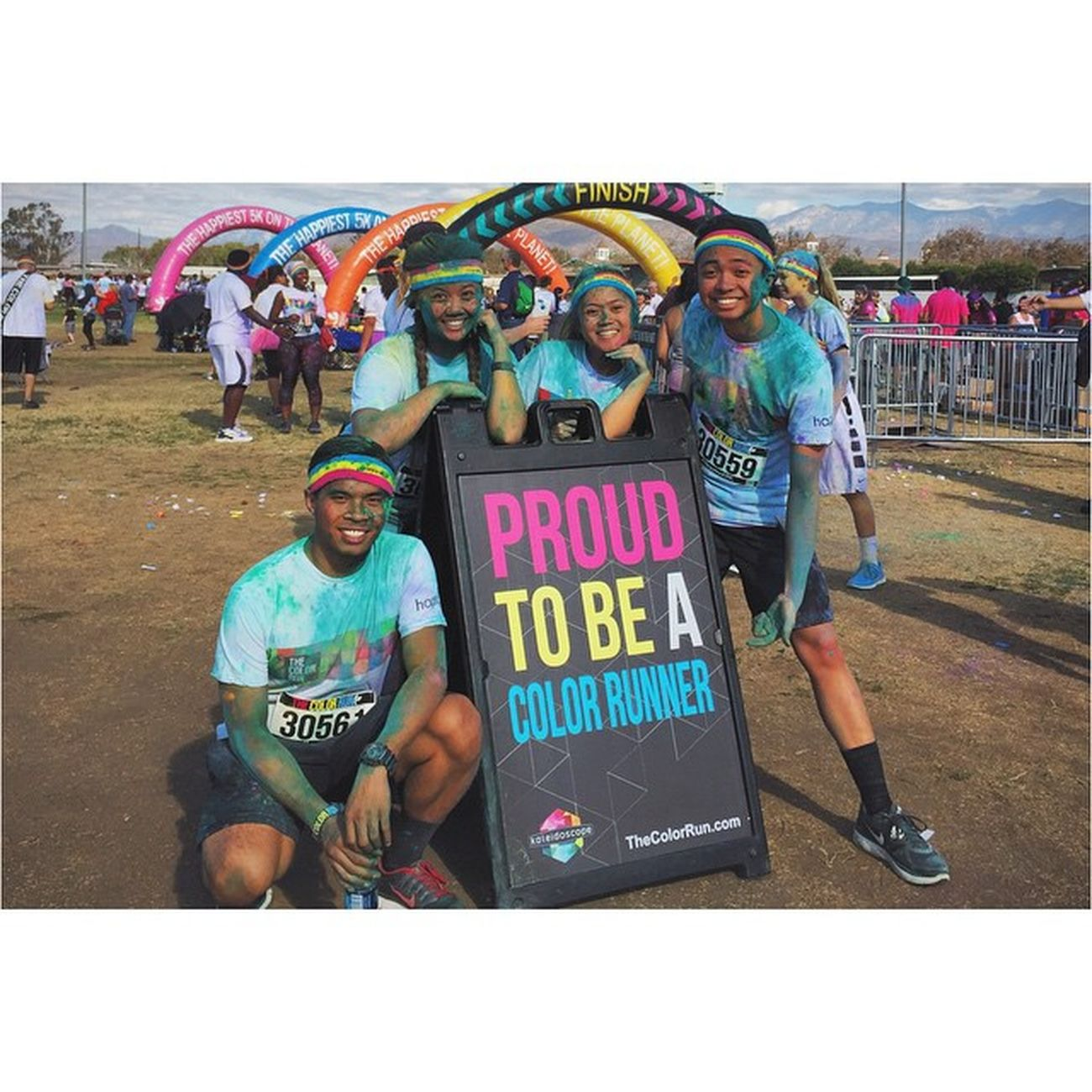 We did it and we definitely got colored 😂Thecolorrun2014 ColorRun Tcrpomona Worthit experience ontothenext vsco