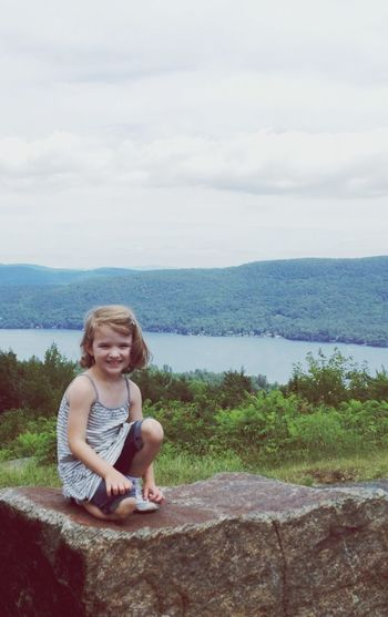 On top of the world Lake George NY EyeEm Nature Lover EyeEm Best Shots EyeEm Wilderness Children Happy Girl  Vacation