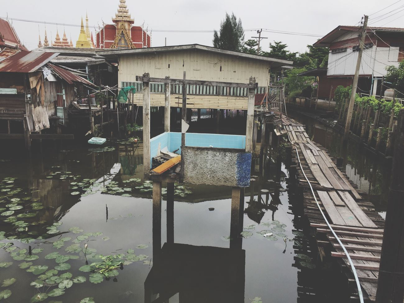 nature Water Building Exterior Day Outdoors Reflection Architecture Built Structure No People Religion Thailand Landscape Nature Sky Cloud - Sky Beauty In Nature House