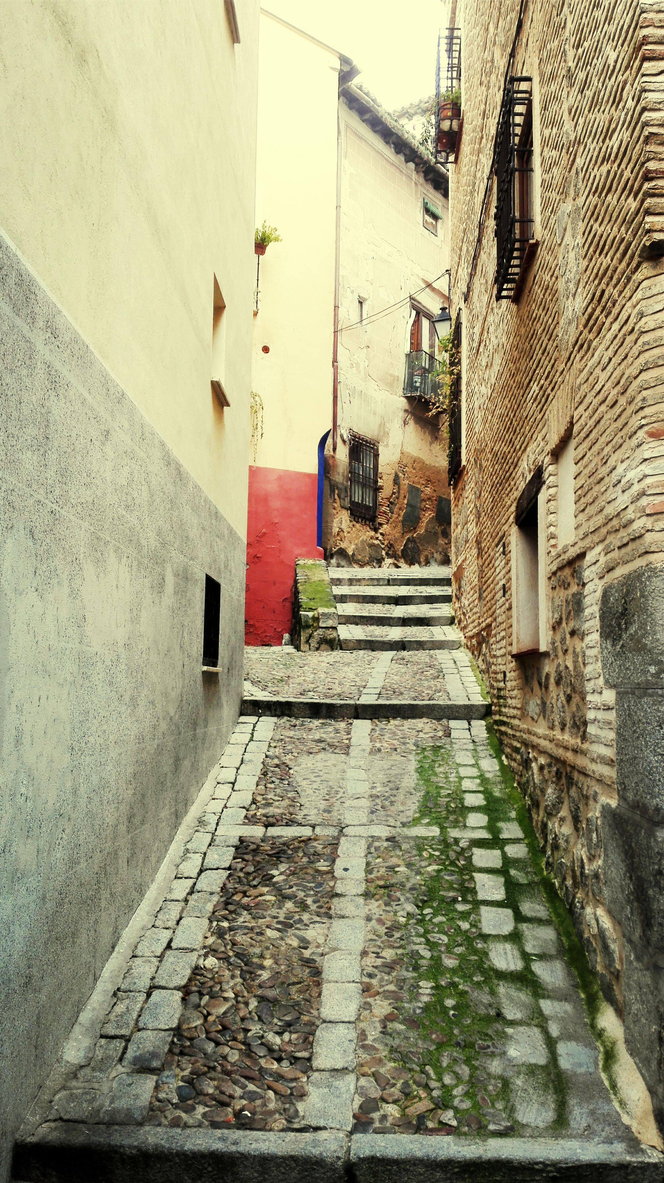 architecture, building exterior, built structure, the way forward, cobblestone, street, alley, residential structure, diminishing perspective, residential building, building, narrow, walkway, house, vanishing point, footpath, city, paving stone, pathway, wall - building feature