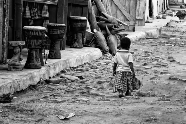 Girl at Accra market