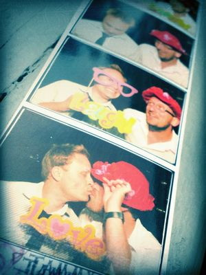 gaying it up at a photo booth by Tyler Smart