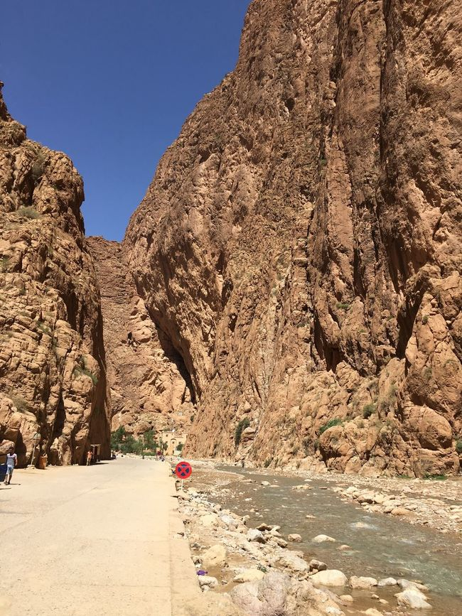 Todra Gorge Todra Morocco Cliff Nature Stone Rock Beauty In Nature Natural Light Sky Mountain Water River Spring Water Wild Valley
