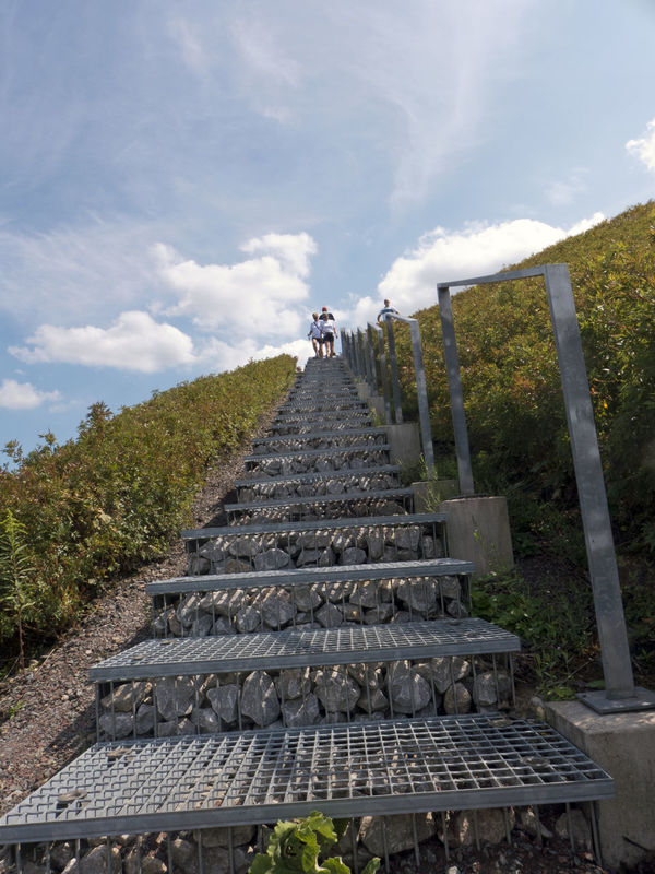 Railing Architecture Cloud - Sky Coal Mining Coalmine Day Hoist Frame Low Angle View Mine Outdoors Real People Sky Steps Steps And Staircases The Way Forward Winding Tower Zeche Zeche Ewald