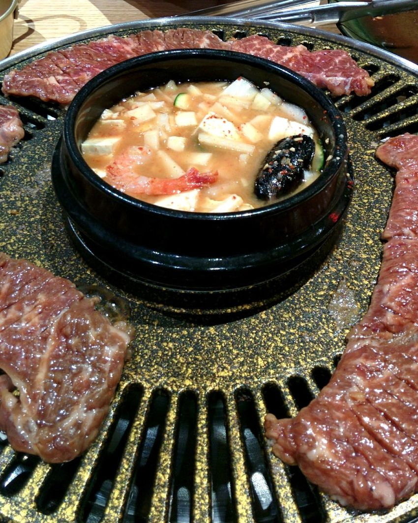 BBQ Time Grilling Meat Korean BBQ Food Grill Korean Food Tasty Soybean Soup 된장찌개 양념갈비 갈비 Galbi Barbique