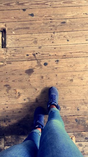 Sneakers SuedeShoes Nike Air Force 1 Wood Train Train Station Urban Thick THICK THIGHS ! Jeans Blue Jeans