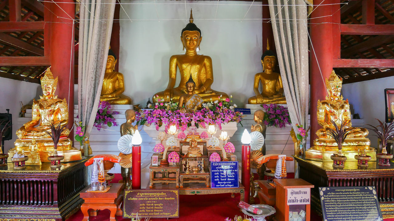 Day Gold Gold Colored Golden Color Human Representation Idol Indoors  Male Likeness No People Place Of Worship Religion Sculpture Spirituality Statue Travel Destinations