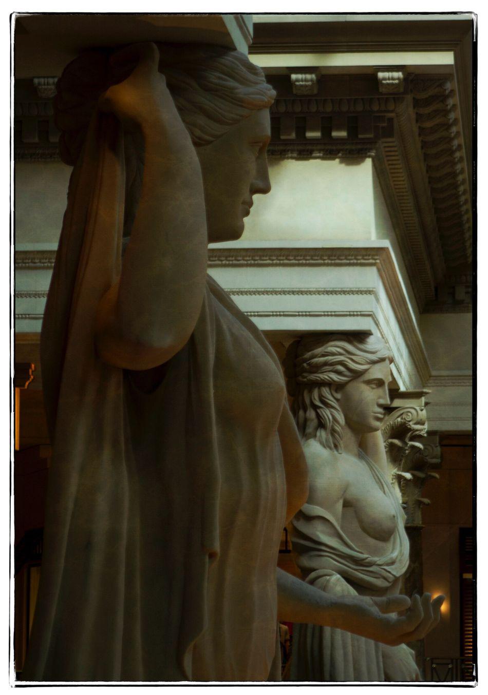 Caesar's Statues. Architecture Canon Statues Caesarspalace