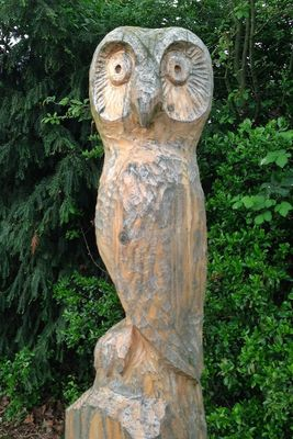 Wooden Sculpure at Stelen am Plattenweg by Robert Rowe