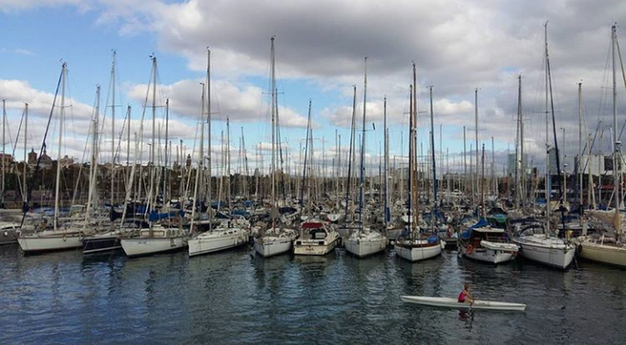 Barco Nautical Vessel Moored Harbor Mast Mode Of Transport Transportation Travel Destinations No People Sailboat Tranquility Cloud - Sky Outdoors Water Sky Sea Day Nature Yacht Tall Ship Sailing Ship