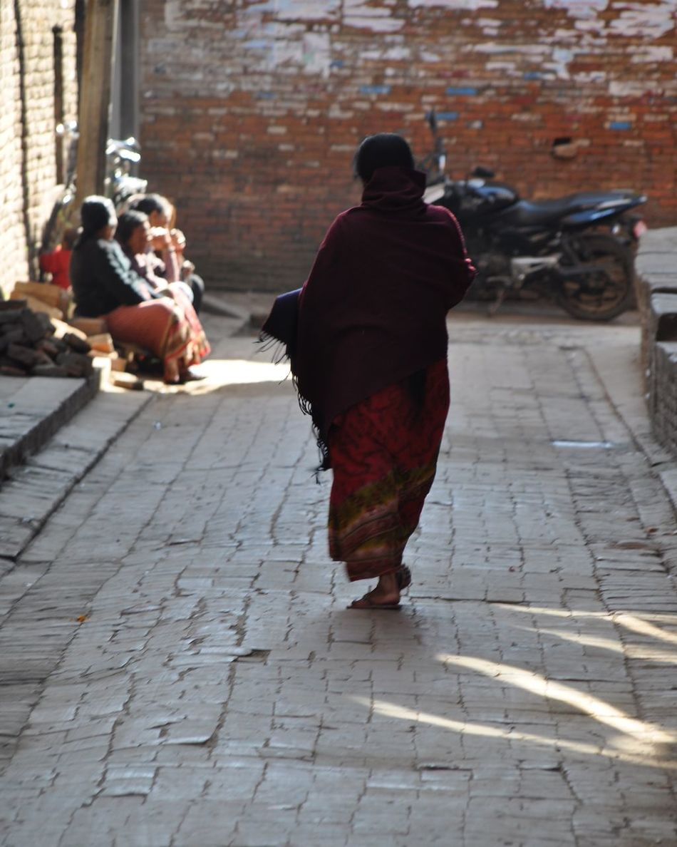 Casual Clothing City City Life Footpath Full Length Lifestyles Nepal Travel Poor People  We Are Lucky