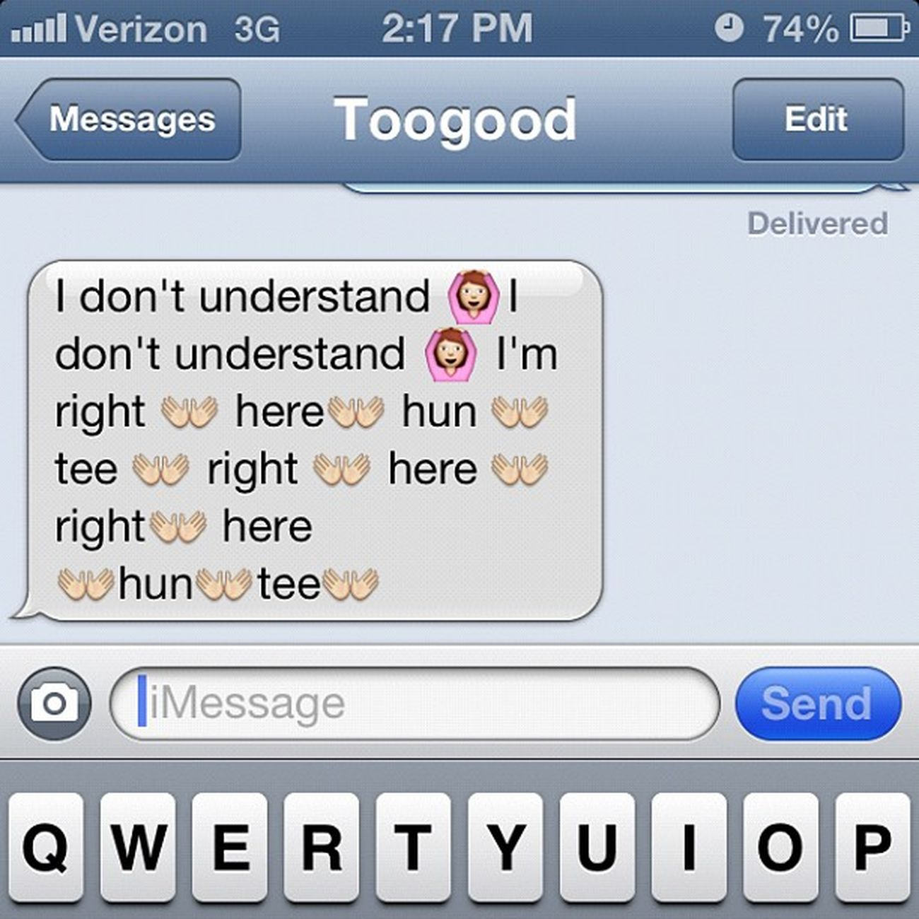 Lol. This bitch @ayo_tooqood21 BadGirlsClub Bgc9