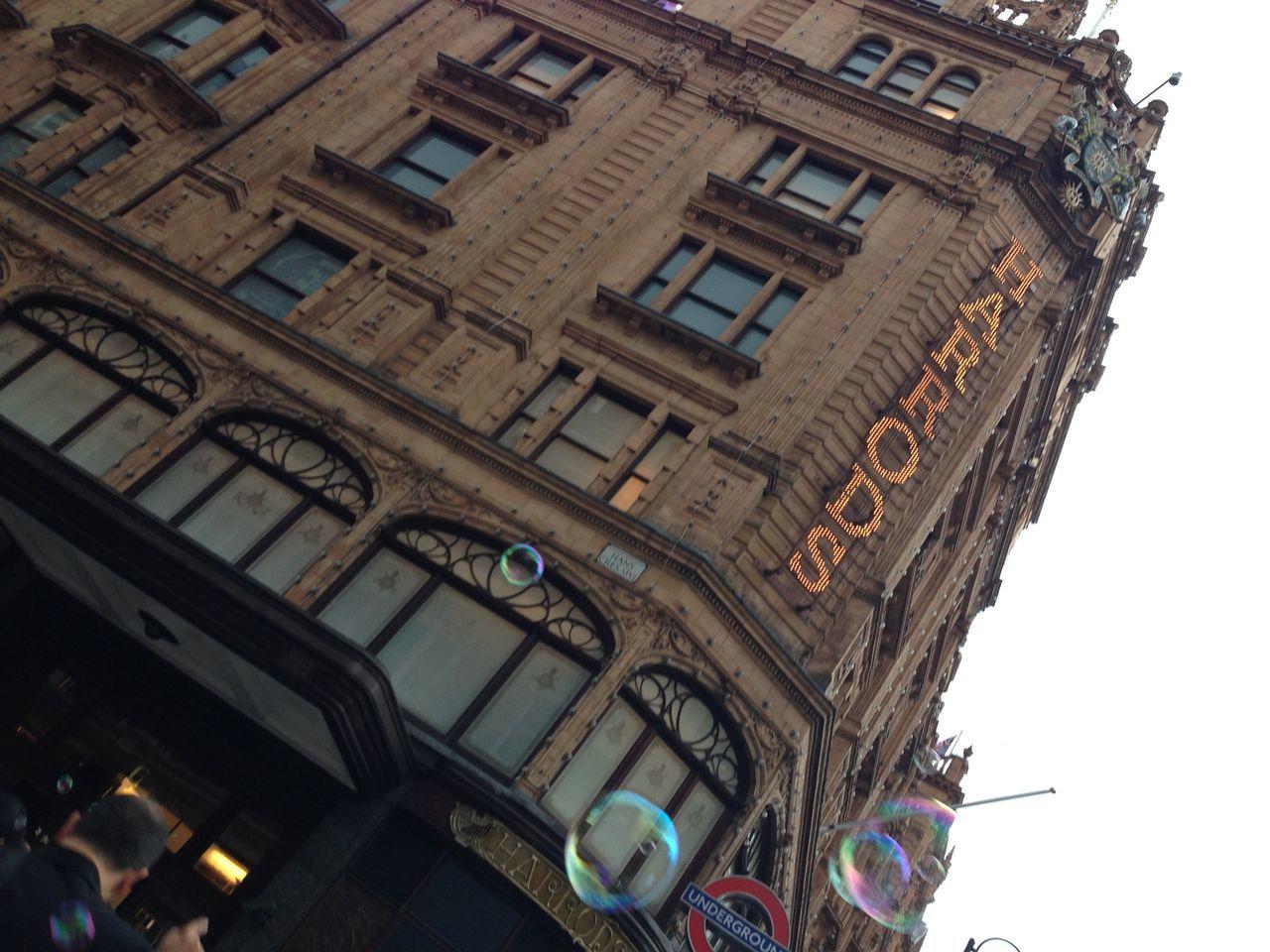 Architecture Bubbles Building Exterior Built Structure City Harrods London No People Sky