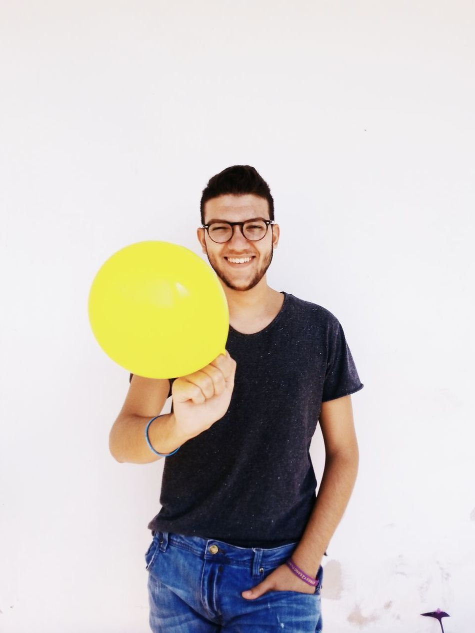 Beautiful stock photos of smile, Balloon, Copy Space, Front View, Glasses