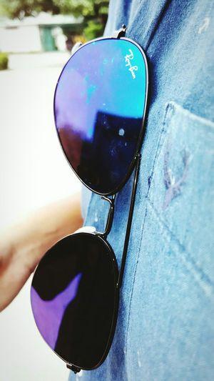Glares Enjoying Life Hanging Out Glasses Sunglasses Reflection Blue Rayban