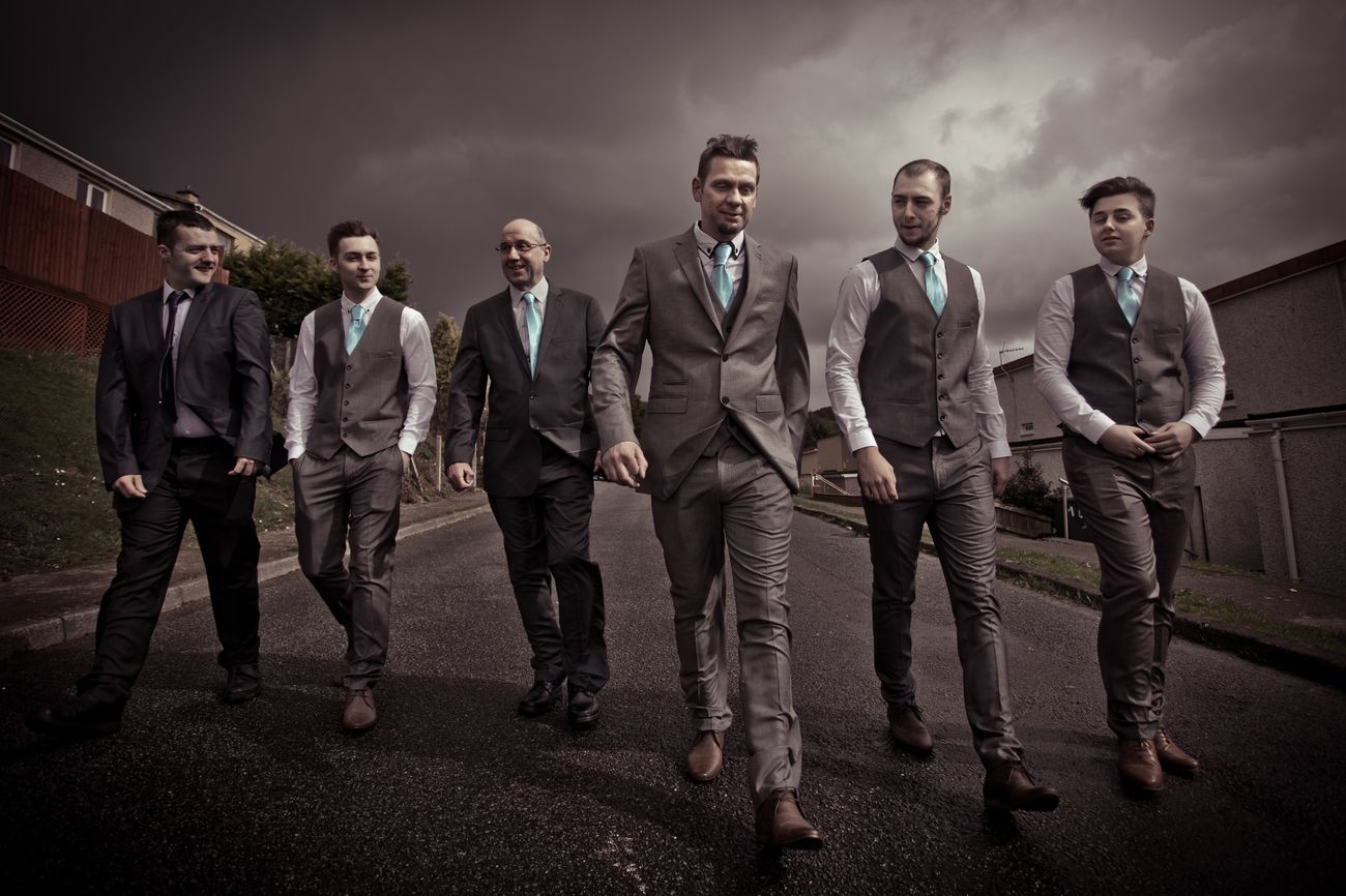 Full Length Portrait Looking At Camera Standing Real People Business Well-dressed Group Of People Outdoors Corporate Business Men Businessman Teamwork Togetherness Young Adult Adults Only People Adult Wedding Wedding Photography
