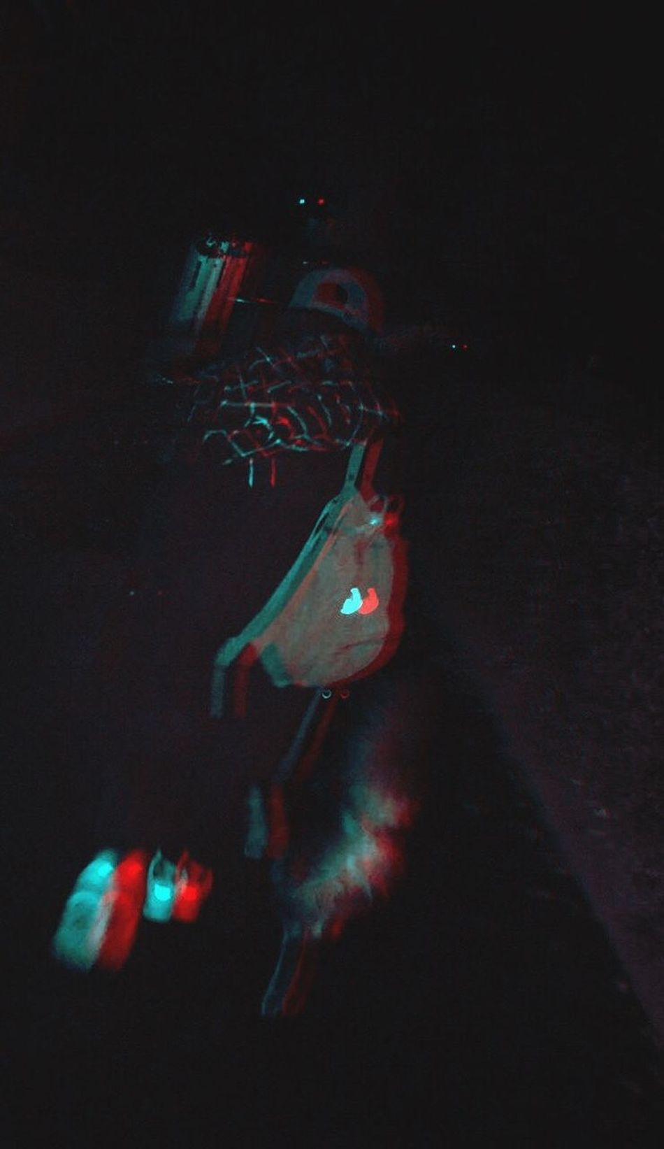 Inner peace muh'fucker, this whole life is a hallucination. Night Real People Illuminated Buddy Dog Luie Hallucinations Inner Peace Muh'fucker Fjällräven Asics All Black 3D