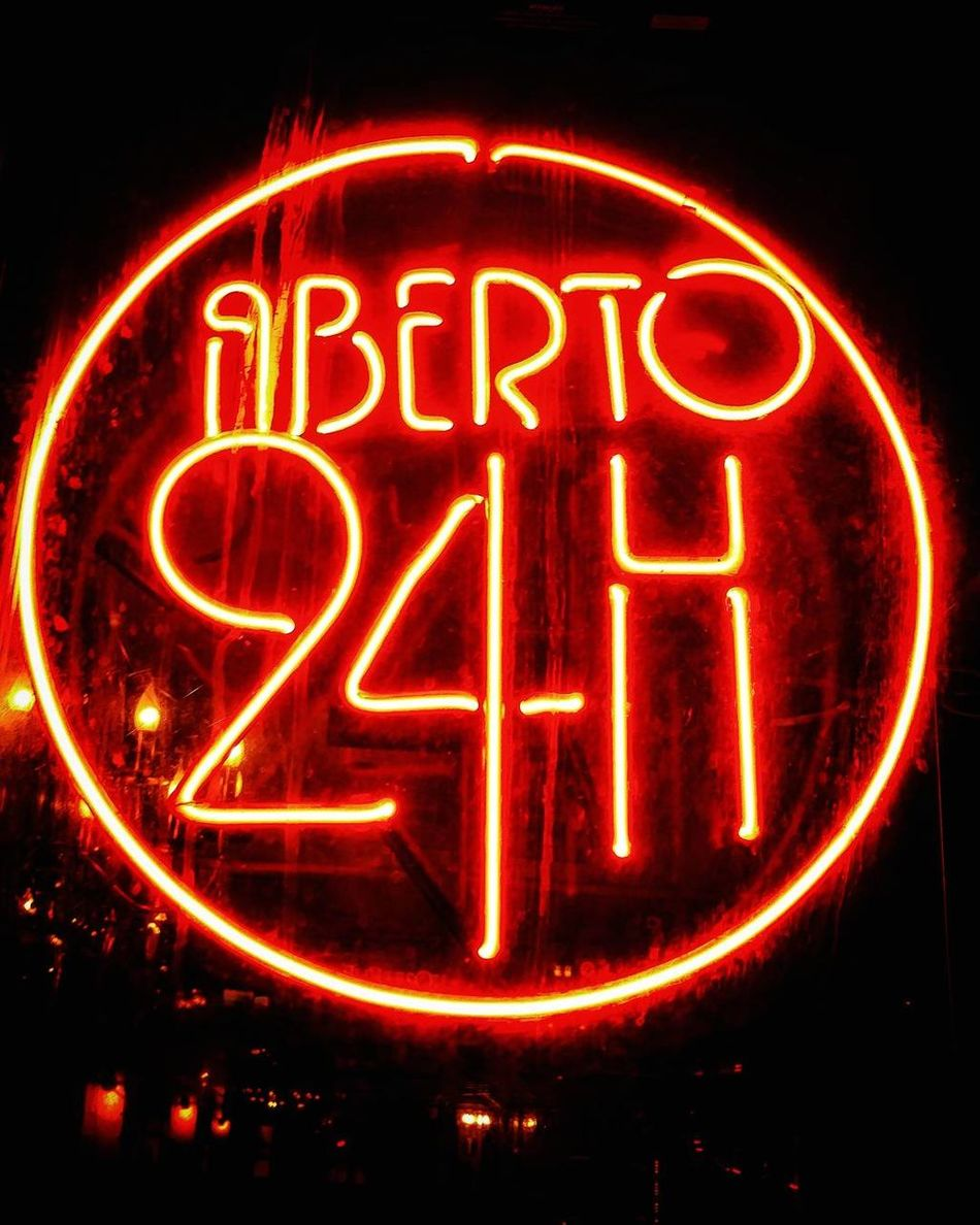 The City Light Neon Night Red Text Lighting Equipment Dark Illuminated City No People Outdoors Modern São Paulo Welcome To Black