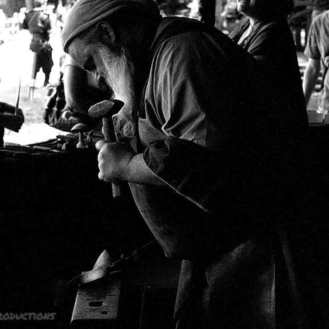 Black smith at the ren faire. Kelleymediaproductions Art Renfaire Renaissancefaire Nyrenaissancefaire Blacksmith  Blacksmithing Blackandwhite Blackandwhitephotography Photography Photographersofinstagram Photographer Canon Canon_official Canonphotography Canon7d  Stayrad