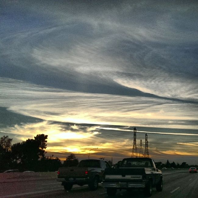 Driving along the 10 west back in December 2013 SoCal SanGabrielValley