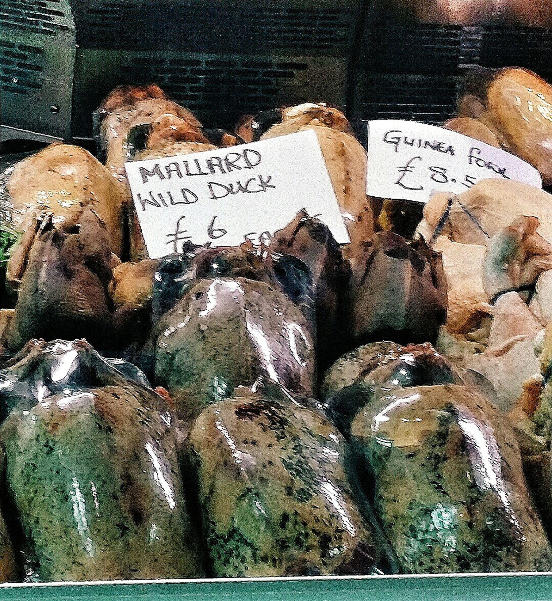 Mallard Wild Duck Guinea Fowl Specialty Food Food Market Borough Market 1014 1276 London England Travelphotogrqphy