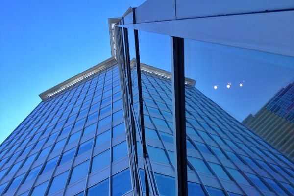 Reflection at Shaw Tower by David Welsh