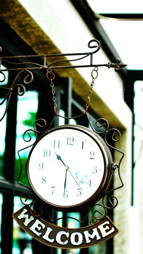Clock Time Hanging No People Low Angle View Close-up Day Indoors  Clock Face Minute Hand Hour Hand