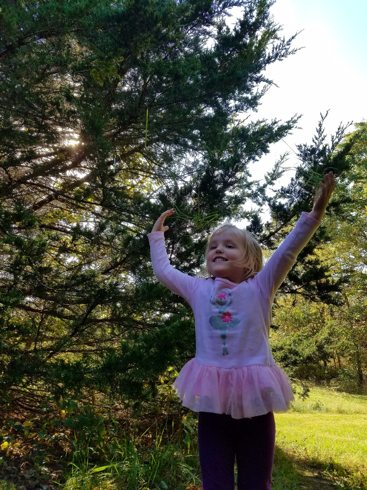 Jump for joy! One Girl Only Child Childhood One Person Arms Raised Happiness Smiling Tree Outdoors Day Mybaby Gwennie Goose Gwenniegoose Gwinning Jumping Eye4photography  Samsung Galaxy S7 Edge Real People Beauty In Nature The Purist (no Edit, No Filter) Eyeemphotography Enjoy The New Normal