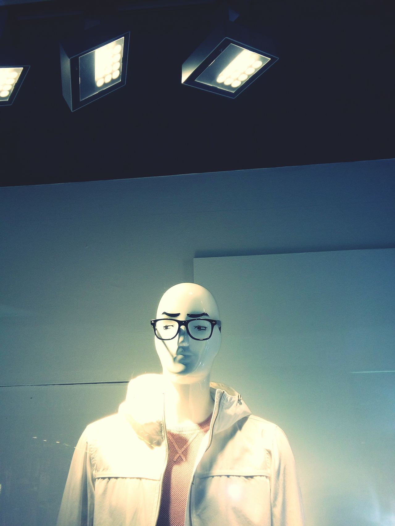 Eyeglasses  Contemplation Front View Indoors  Business Dummy Dummy Heads Shop Clothes Shop Retail  Display Fashion