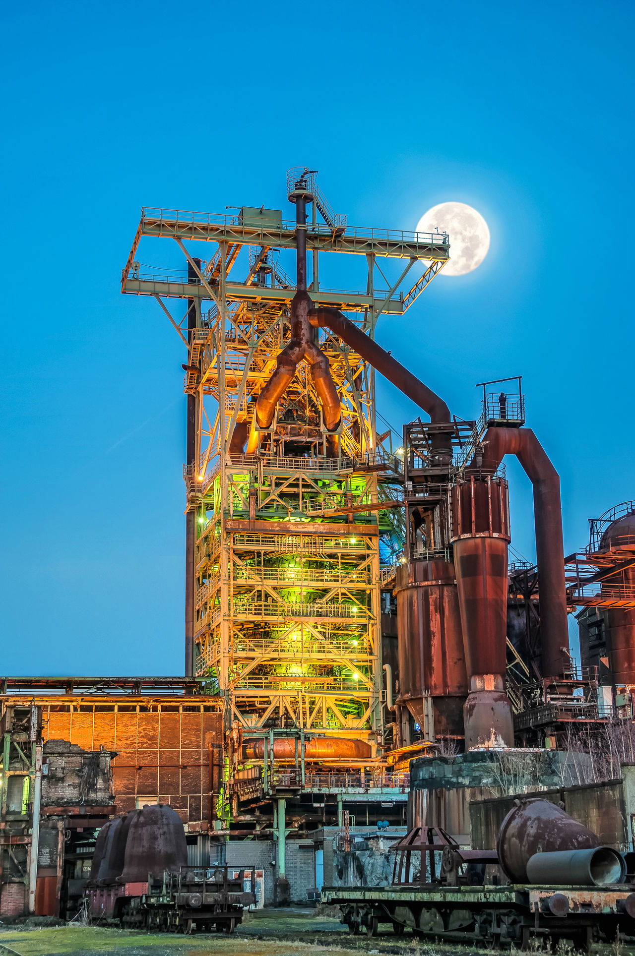 Schichtende! End of work. Industry Blast Furnace HDR Collection Industrial Photography Hochofen Blue Hour Moon Variation Factory Night View Factory Industrieromantik