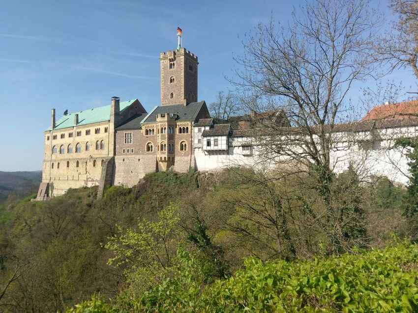 Building Exterior Architecture Tower No People Tree Day Outdoors History Built Structure Clock Tower Sky Roof Nature Clock Wartburg In Eisenach/ Germany Wartburg