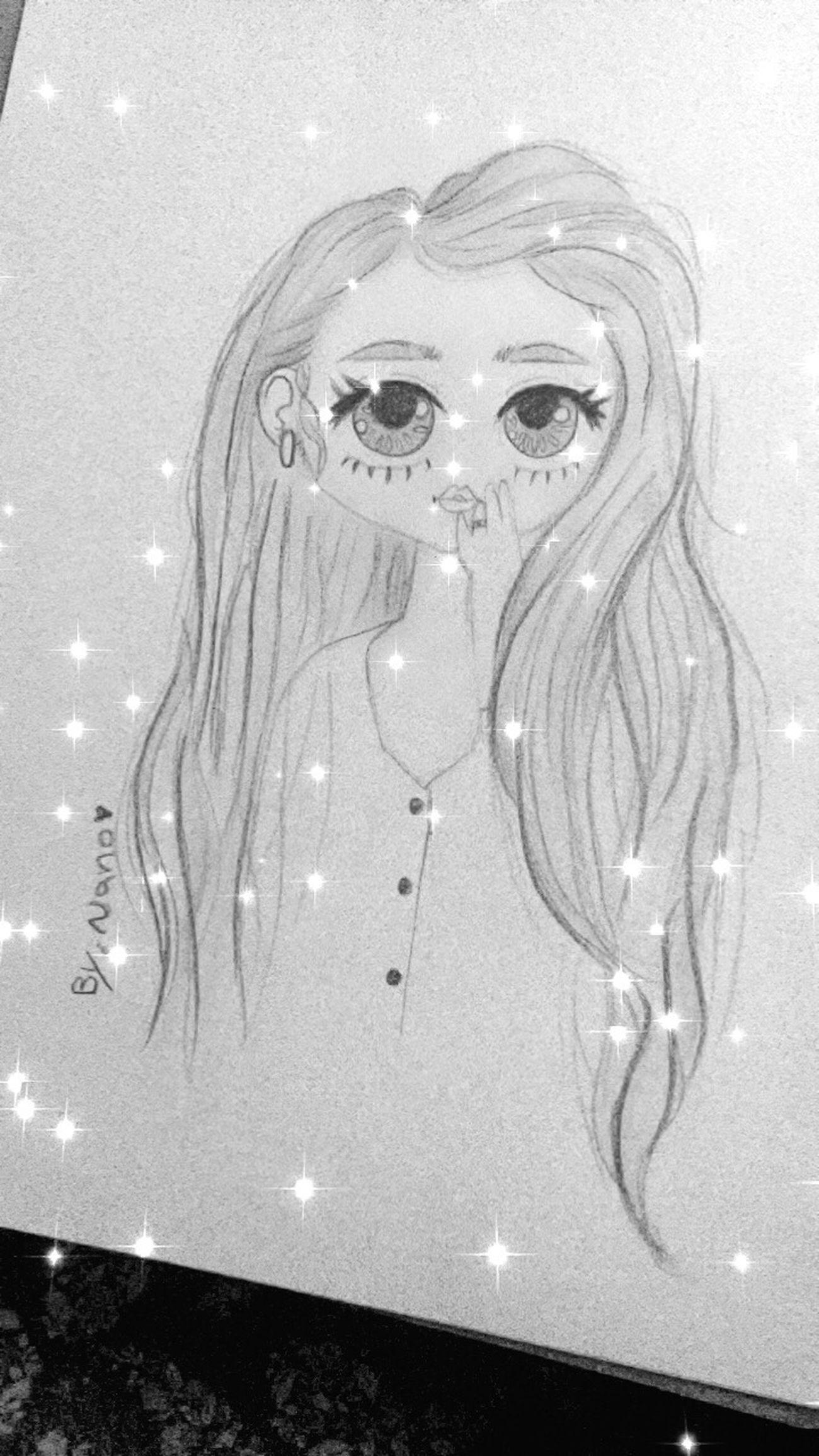 Drawing Happy رسمي  Hello World Hi! Good Morning gooood morning ❄️💨💕 Sketching