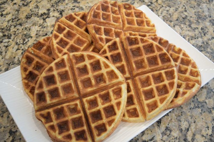Made extra Belgian waffles for the rest of the week :) Crispy Breakfast Brunch Syrup Butter Belgianwaffle Maplesyrup Homemade Waffle Food Porn